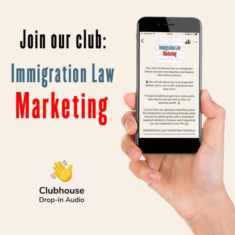 Image about Clubhouse for immigration lawyers